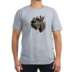 Schnauzer Men's Fitted T-Shirt (dark)