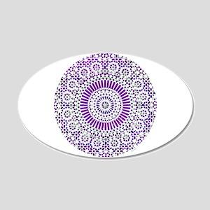 purple crown seventh chakra mosaic circle 22x14 Ov