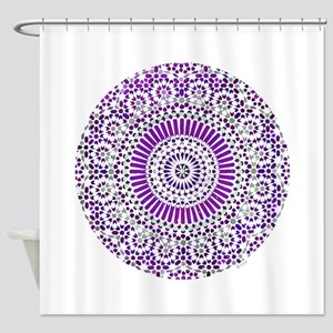 purple crown seventh chakra mosaic circle Shower C