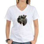 Schnauzer Women's V-Neck T-Shirt
