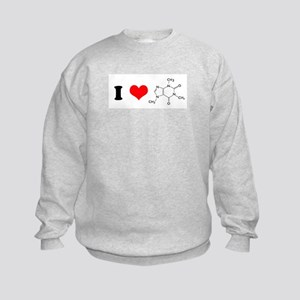 I Love Caffiene Kids Sweatshirt