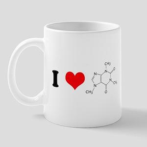 I Love Caffiene Mug