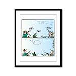 Birds giving the Finger Framed Panel Print