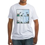 Birds giving the Finger Fitted T-Shirt