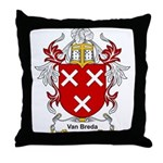 Van Breda Coat of Arms Throw Pillow