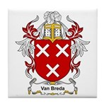 Van Breda Coat of Arms Tile Coaster