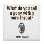 Corny Joke Horse Tile Coaster #3
