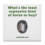 Corny Joke Horse Tile Coaster #4