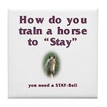 Corny Joke Horse Tile Coaster #5