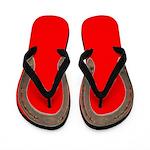 Horse Shoe Flip Flops in red