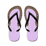 Horse Shoe Flip Flops in lilac