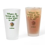 Where do horses go for a nice place to eat? Glass
