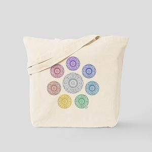 seven chakra circle Tote Bag