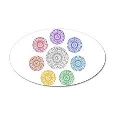 seven chakra circle 22x14 Oval Wall Peel