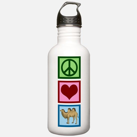 Peace Love Camels Water Bottle