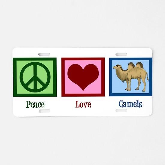 Peace Love Camels Aluminum License Plate