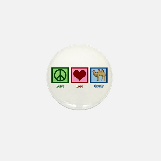 Peace Love Camels Mini Button