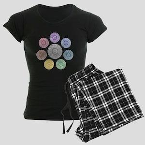 seven chakra circle Women's Dark Pajamas