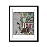 Angry Elephant Framed Panel Print