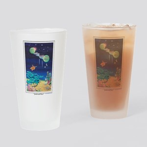 Gemini and Pisces Drinking Glass