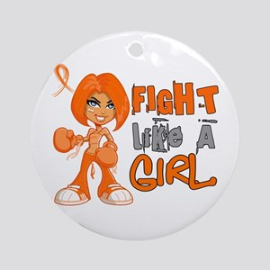 Fight Like a Girl 42.8 Kidney Cancer Ornament (Rou