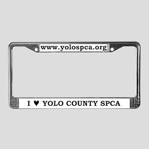 License Plate Frame, Black Text
