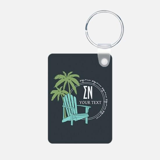 Sigma Nu Beach Personalize Keychains