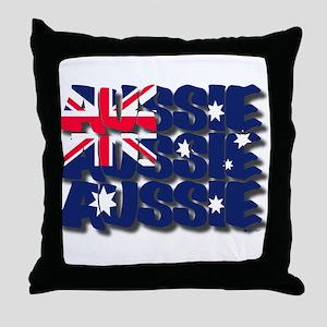 Aussie Aussie Aussie Throw Pillow