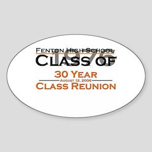 Fenton Class of 1976 30 Year Oval Sticker