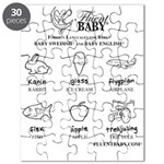 Baby Swedish and Baby English Puzzle
