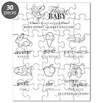 Baby Hindi and Baby English Puzzle