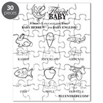 Baby Hebrew and Baby English Puzzle