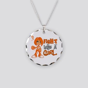 Fight Like a Girl 42.8 MS Necklace Circle Charm