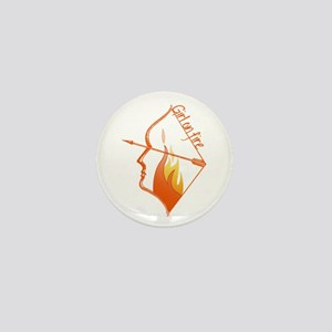 Girl on Fire Mini Button