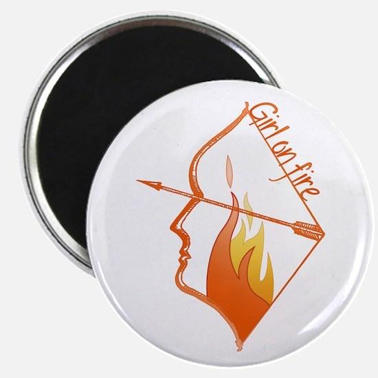 """Girl on Fire 2.25"""" Magnet (10 pack)"""