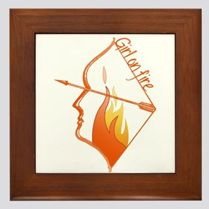 Girl on Fire Framed Tile