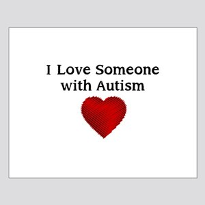 I love someone with autism Small Poster