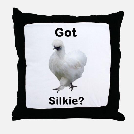 Got Silkie? Throw Pillow