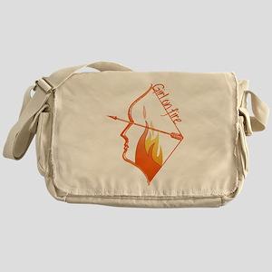 Girl on Fire Messenger Bag