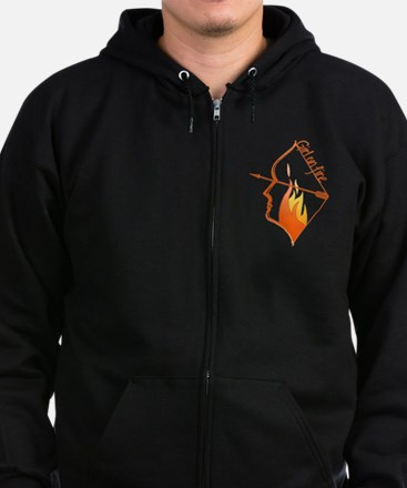 Girl on Fire Zip Hoodie (dark)