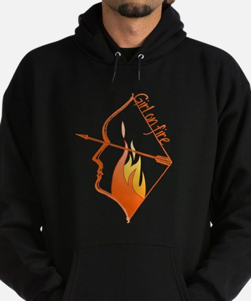 Girl on Fire Hoodie (dark)