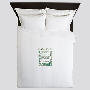 Robert Frost Queen Duvet