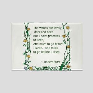 Robert Frost Rectangle Magnet