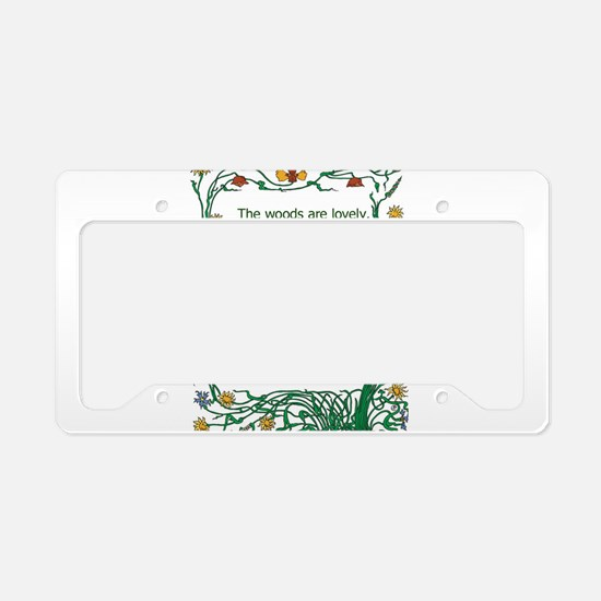 Robert Frost License Plate Holder