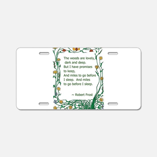 Robert Frost Aluminum License Plate
