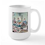 Exercise Motorbike Large Mug