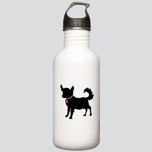 Chihuahua Breast Cancer Awareness Stainless Water