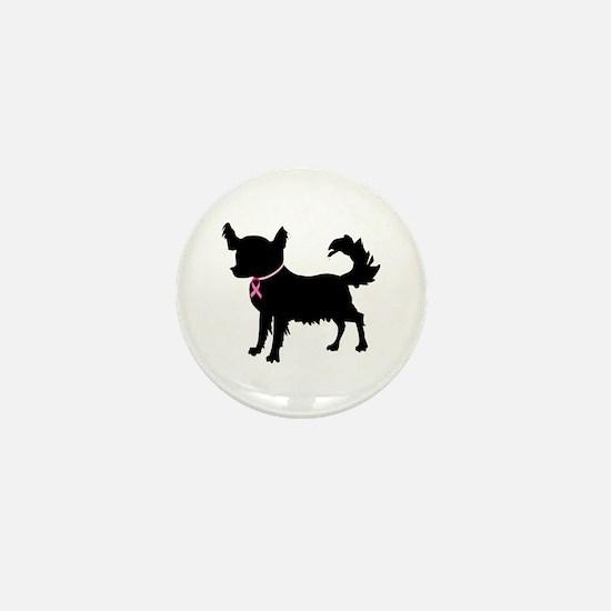 Chihuahua Breast Cancer Awareness Mini Button