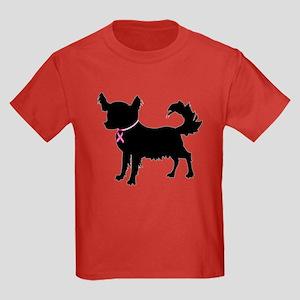 Chihuahua Breast Cancer Awareness Kids Dark T-Shir
