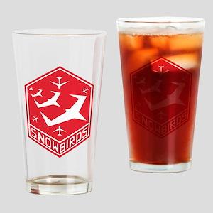 snow_bird_aerobatic Drinking Glass